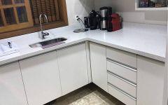 Cozinha em Silestone Blanco Stellar
