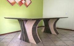 Mesa em Mármore Verde Bamboo
